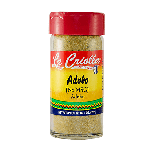 Adobo Seasoning All Natural Nomsg 4oz Set Of 6 Glass Jars La Criolla