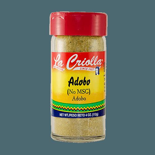 Adobo Seasoning All Natural Nomsg 4oz Set Of 6 Glass Jars La Criolla