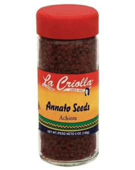 Annatto Seeds (Achiote Entero), All Natural, 2.75oz, Set of 6 Glass Jars