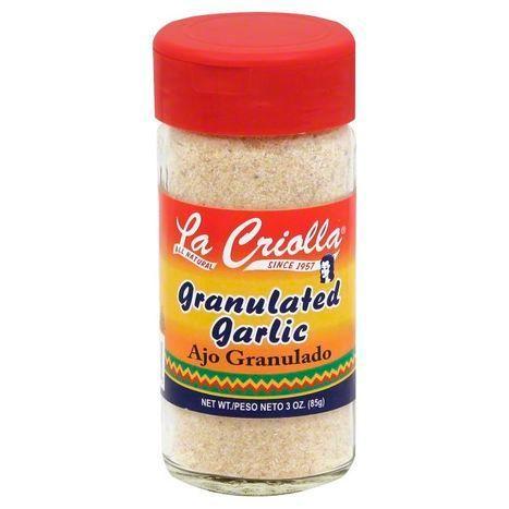 Granulated Garlic, All Natural, 3oz, Set of 6 Glass Jars